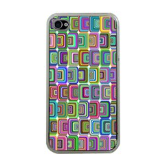 Psychedelic 70 S 1970 S Abstract Apple iPhone 4 Case (Clear)