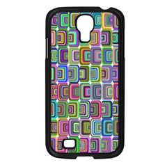 Psychedelic 70 S 1970 S Abstract Samsung Galaxy S4 I9500/ I9505 Case (Black)