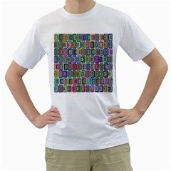 Psychedelic 70 S 1970 S Abstract Men s T-Shirt (White)
