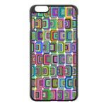 Psychedelic 70 S 1970 S Abstract Apple iPhone 6 Plus/6S Plus Black Enamel Case Front