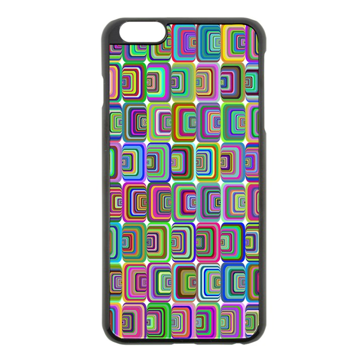 Psychedelic 70 S 1970 S Abstract Apple iPhone 6 Plus/6S Plus Black Enamel Case