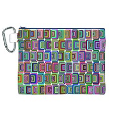 Psychedelic 70 S 1970 S Abstract Canvas Cosmetic Bag (XL)