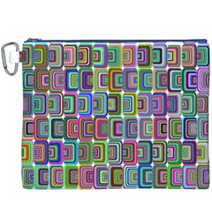 Psychedelic 70 S 1970 S Abstract Canvas Cosmetic Bag (XXXL)