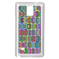 Psychedelic 70 S 1970 S Abstract Samsung Galaxy Note 4 Case (White)