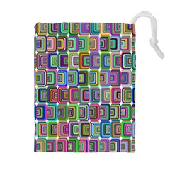 Psychedelic 70 S 1970 S Abstract Drawstring Pouches (Extra Large)