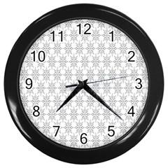 Ornamental Decorative Floral Wall Clocks (Black)