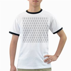 Ornamental Decorative Floral Ringer T-Shirts