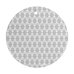 Ornamental Decorative Floral Round Ornament (Two Sides)