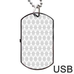 Ornamental Decorative Floral Dog Tag USB Flash (Two Sides)