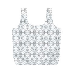 Ornamental Decorative Floral Full Print Recycle Bags (M)