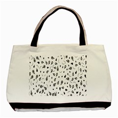 Paisley Floral Flourish Decorative Basic Tote Bag (Two Sides)