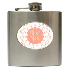 Mandala I Love You Hip Flask (6 oz)