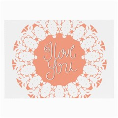 Mandala I Love You Large Glasses Cloth (2-Side)