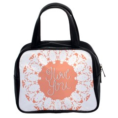 Mandala I Love You Classic Handbags (2 Sides)