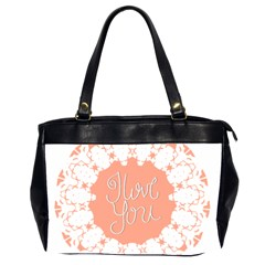 Mandala I Love You Office Handbags (2 Sides)