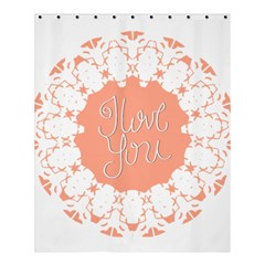 Mandala I Love You Shower Curtain 60  x 72  (Medium)