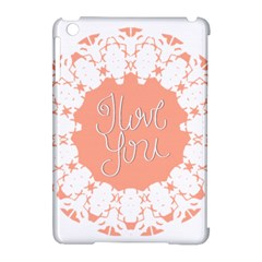 Mandala I Love You Apple iPad Mini Hardshell Case (Compatible with Smart Cover)
