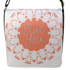 Mandala I Love You Flap Messenger Bag (s)