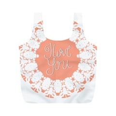 Mandala I Love You Full Print Recycle Bags (M)