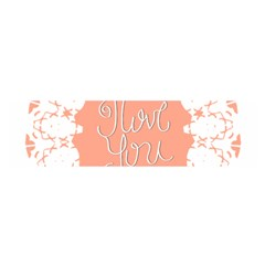 Mandala I Love You Satin Scarf (Oblong)