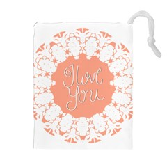 Mandala I Love You Drawstring Pouches (Extra Large)