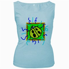 Insect Ladybug Women s Baby Blue Tank Top