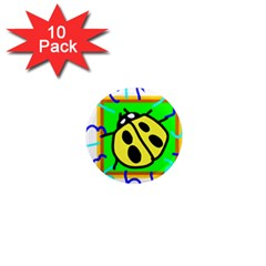 Insect Ladybug 1  Mini Magnet (10 pack)