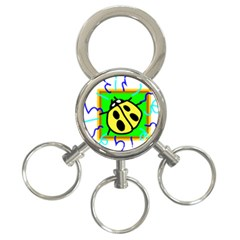 Insect Ladybug 3-Ring Key Chains