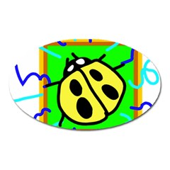 Insect Ladybug Oval Magnet