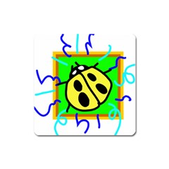 Insect Ladybug Square Magnet