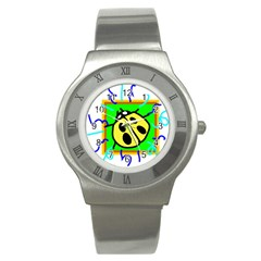 Insect Ladybug Stainless Steel Watch
