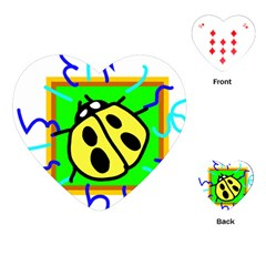 Insect Ladybug Playing Cards (Heart)