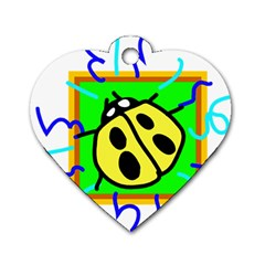 Insect Ladybug Dog Tag Heart (One Side)
