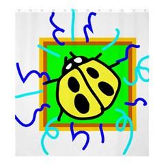 Insect Ladybug Shower Curtain 66  x 72  (Large)