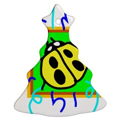 Insect Ladybug Christmas Tree Ornament (Two Sides)