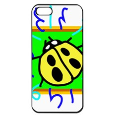 Insect Ladybug Apple iPhone 5 Seamless Case (Black)