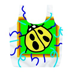 Insect Ladybug Full Print Recycle Bags (L)