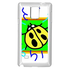 Insect Ladybug Samsung Galaxy Note 4 Case (White)