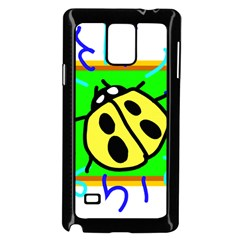 Insect Ladybug Samsung Galaxy Note 4 Case (Black)