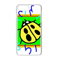 Insect Ladybug Apple Iphone 7 Plus White Seamless Case