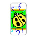 Insect Ladybug Apple iPhone 7 Plus White Seamless Case Front