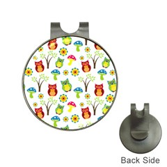 Cute Owl Wallpaper Pattern Hat Clips with Golf Markers