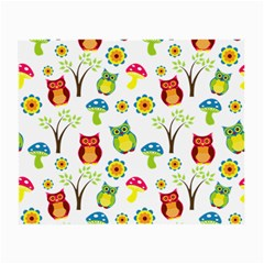Cute Owl Wallpaper Pattern Small Glasses Cloth