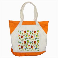 Cute Owl Wallpaper Pattern Accent Tote Bag