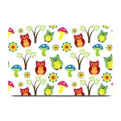 Cute Owl Wallpaper Pattern Plate Mats