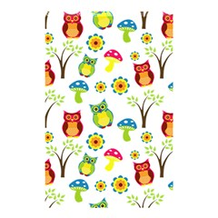 Cute Owl Wallpaper Pattern Shower Curtain 48  x 72  (Small)
