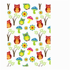 Cute Owl Wallpaper Pattern Small Garden Flag (Two Sides)