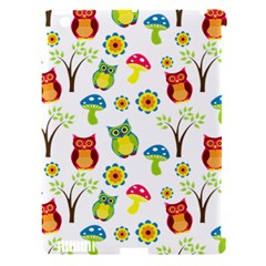Cute Owl Wallpaper Pattern Apple iPad 3/4 Hardshell Case (Compatible with Smart Cover)