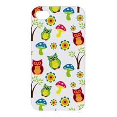 Cute Owl Wallpaper Pattern Apple iPhone 4/4S Premium Hardshell Case