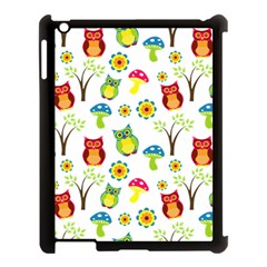 Cute Owl Wallpaper Pattern Apple iPad 3/4 Case (Black)